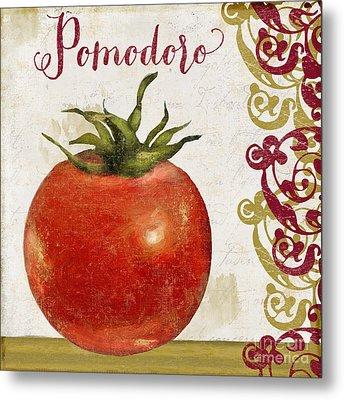 Cucina Italiana Tomato Pomodoro Metal Print by Mindy Sommers