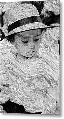 Metal Print featuring the photograph Cuenca Kids 894 by Al Bourassa