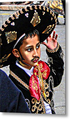 Metal Print featuring the photograph Cuenca Kids 897 by Al Bourassa