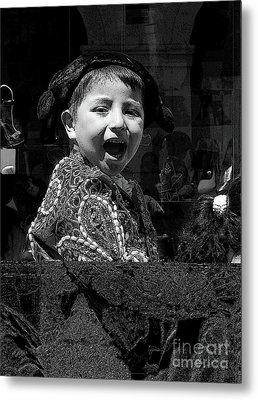 Cuenca Kids 954 Metal Print by Al Bourassa
