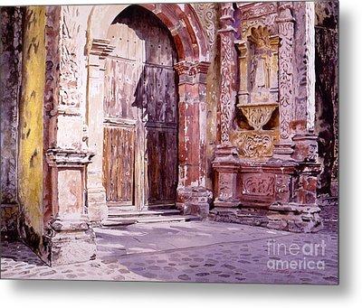Cuernavaca Cathedral Metal Print by David Lloyd Glover