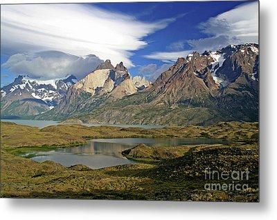 Cuernos Del Pain And Almirante Nieto In Patagonia Metal Print