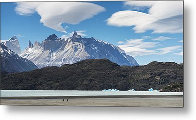 Cuernos Del Paine From Lake Pehoe Metal Print by Keith Levit