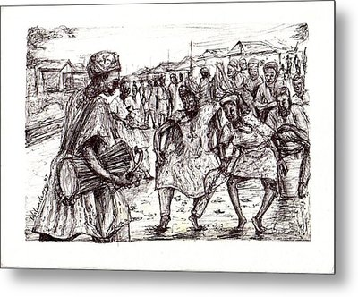 Cultural Dance Metal Print by Wale Adeoye