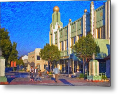 Metal Print featuring the photograph Culver City Plaza Theaters   by David Zanzinger