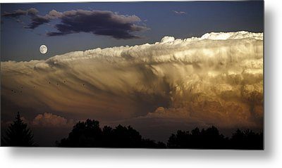 Cumulonimbus At Sunset Metal Print by Jason Moynihan