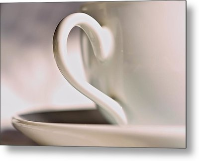 Cup And Saucer Metal Print by Josephine Buschman
