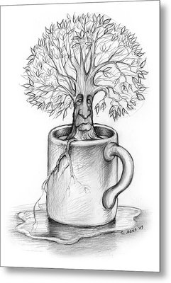 Cup-o-tree Metal Print by Greg Joens