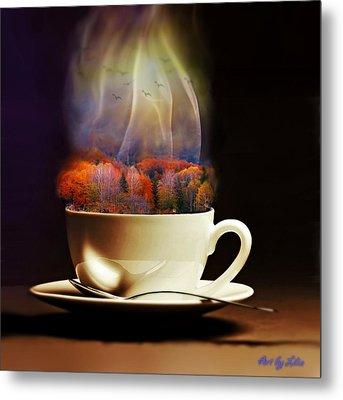 Cup Of Autumn Metal Print