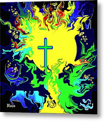 Cup Of Salvation Metal Print by Yvonne Blasy
