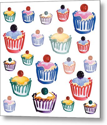 Cupcake Crazy Metal Print by Sarah Hough