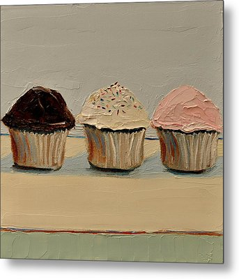 Metal Print featuring the painting Cupcake by Lindsay Frost