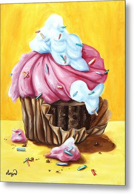 Cupcake Metal Print by Maryn Crawford