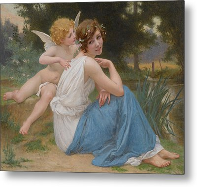 Cupid And Psyche Metal Print by Guillaume Seignac
