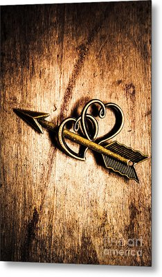 Cupid Arrow And Hearts Metal Print