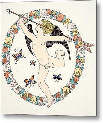 Cupid Metal Print by Georges Barbier