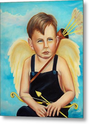 Metal Print featuring the painting Cupid by Joni McPherson