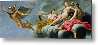 Cupid Orders Mercury To Announce The Power Of Love To The Universe Metal Print by Eustache Le Sueur