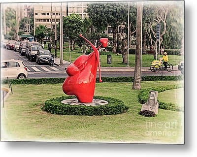 Metal Print featuring the photograph Cupid's Heart  by Mary Machare