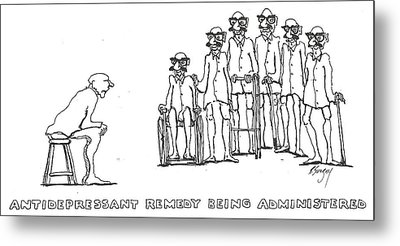 Metal Print featuring the drawing Curing by R  Allen Swezey