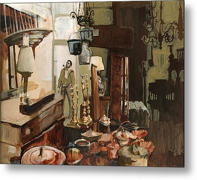 Curio Shop Metal Print by Nancy Watson