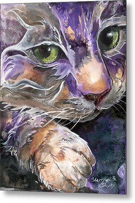Metal Print featuring the painting Curiosity by Sherry Shipley