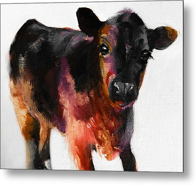 Buster The Calf Painting Metal Print
