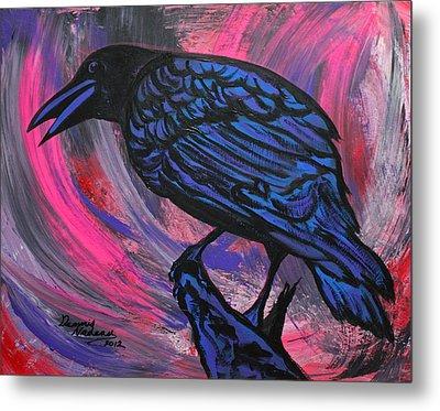 Curious Crow  Metal Print