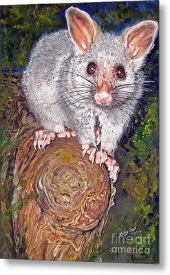 Curious Possum  Metal Print