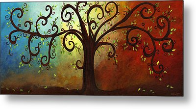 Curly Branches Tree Metal Print by Elaine Hodges
