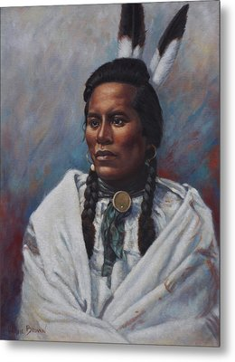Metal Print featuring the painting Curly  by Harvie Brown