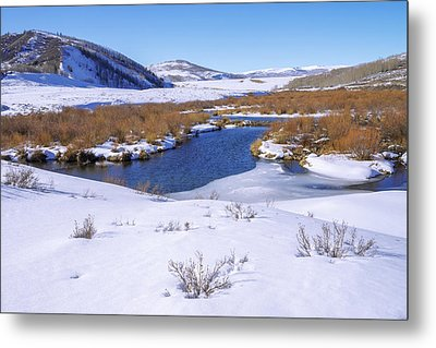 Currant Creek On Ice Metal Print by Chad Dutson