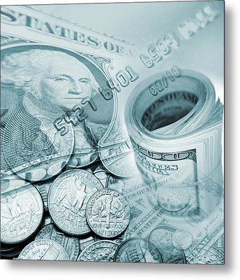 Currency Metal Print by Les Cunliffe