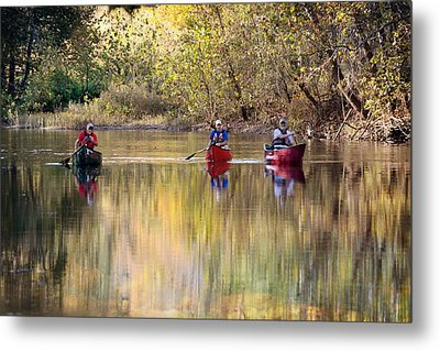 Current River Fall Float Metal Print by Marty Koch