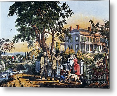 Currier: Country Life Metal Print by Granger