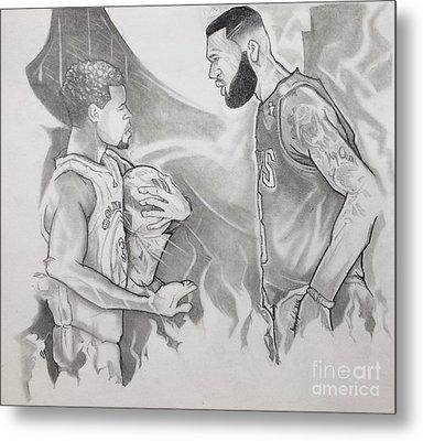 Curry Vs James - Nba Finals Metal Print