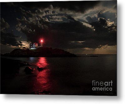 Curtain Call At Nubble Lighthouse Metal Print by Scott Thorp