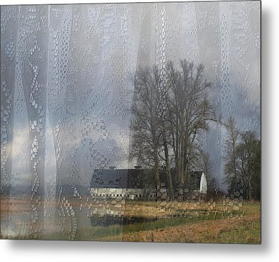 Curtains Of The Mind Metal Print