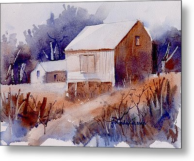 Metal Print featuring the painting Curtis Farm In Ellicott City by Yolanda Koh