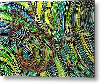 Curved Lines 4 Metal Print by Sarah Loft