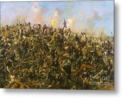 Custer's Last Stand Metal Print by Pg Reproductions