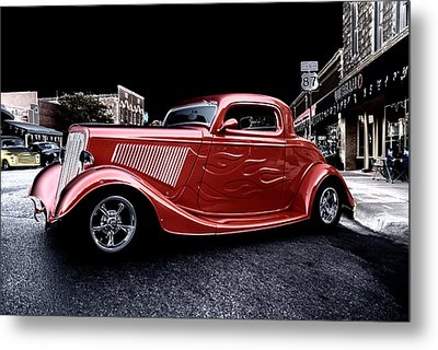 Custom Car On Street Metal Print