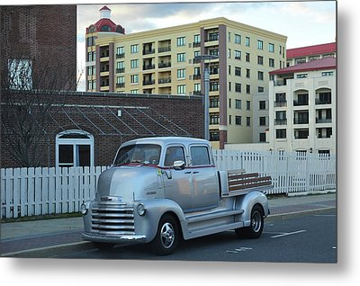 Metal Print featuring the photograph Custom Chevy Asbury Park Nj by Terry DeLuco