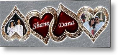 Custom Hearts Metal Print by Shane Bechler