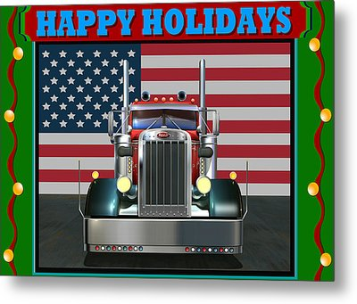 Custom Pete Happy Holidays Metal Print by Stuart Swartz