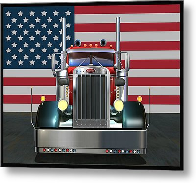 Custom Peterbilt 2 Metal Print