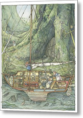 Cutaway Of Dustys Boat Metal Print by Brambly Hedge