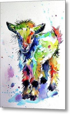 Cute Baby Goat Metal Print by Kovacs Anna Brigitta