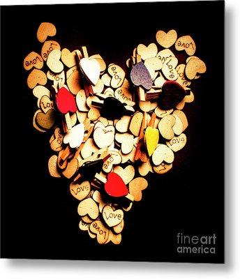 Cute Button Love Metal Print by Jorgo Photography - Wall Art Gallery