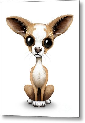 Cute Chihuahua Puppy  Metal Print by Jeff Bartels